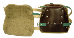 Leather & Wool Felt Knee Pads - Click for Larger Image